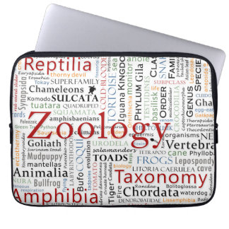 Herpetology in Typography Laptop Sleeves