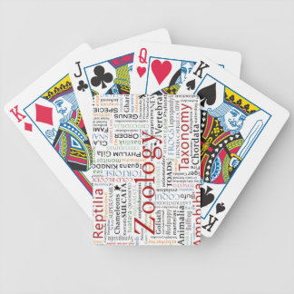 Herpetology in Typography Bicycle Playing Cards