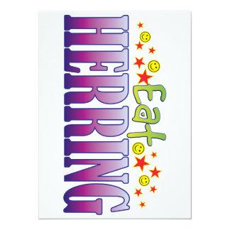 Herring Eat 14 Cm X 19 Cm Invitation Card