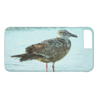 Herring Gull on Beach Abstract Impressionism iPhone 7 Plus Case