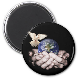 He's Got The Whole World... 6 Cm Round Magnet