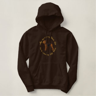 He's My Airedale Embroidered Hoodie