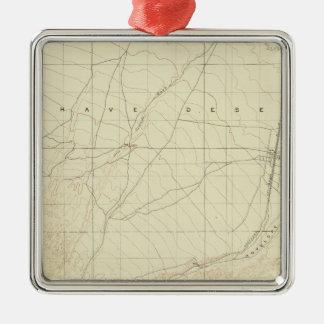 Hesperia quadrangle showing San Andreas Rift Christmas Ornament