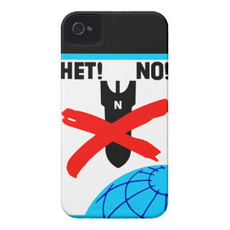 Het No! No war peace anti-war propaganda poster 4S iPhone 4 Case