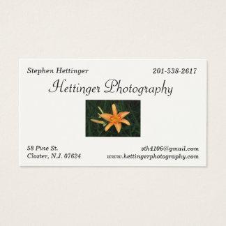 Hettinger Photography Business Card