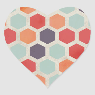 Hex Appeal Heart Sticker