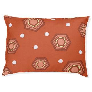Hexagons Burnt Orange Dog Bed