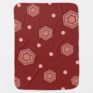 Hexagons Red Baby Blanket