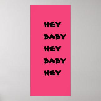 hey baby print