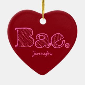 Hey Bae. girlfriend boyfriend slang Christmas Ornament