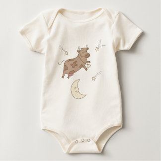 Hey diddle diddle, the cow jumped over the moon baby bodysuit