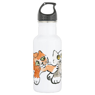 Hey YOu! Want to Wrestle? asks, Kitten 532 Ml Water Bottle