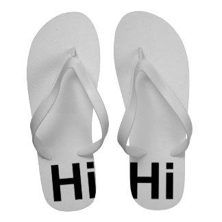 Hi Hello Greeting Simple Hi! Howdy! Cheery Bright Flip-Flops