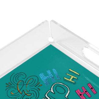 Hi Hello Hand Lettering Design Tray