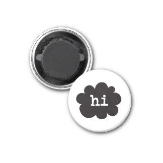 Hi (Hi Hello Greetings) 3 Cm Round Magnet