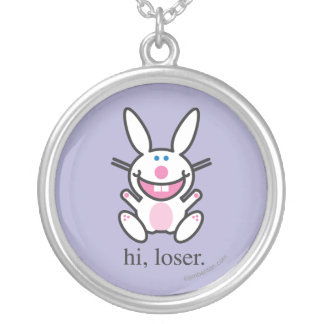 Hi Loser Silver Plated Necklace