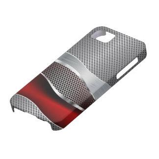 Hi Tech Futuristic Mesh Chrome Red iPhone 5 Cover