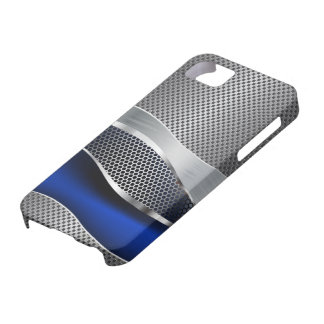Hi Tech Futuristic Mesh Chrome Sapphire iPhone 5 Cover