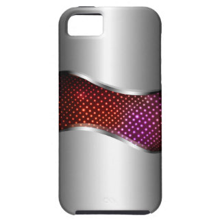Hi Tech Metallic Chrome Swoop red Case For The iPhone 5