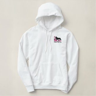 Hibiscus Cardigan Welsh Corgi Embroidered Hoodie