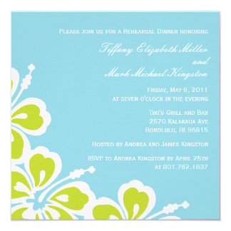 Hibiscus Delight Shower/Rehearsal Dinner Invite
