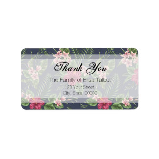Hibiscus Family Thank you Address Label