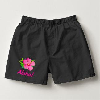 Hibiscus Flower Aloha Boxers
