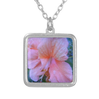 Hibiscus Flower Silver Plated Necklace
