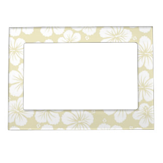 Hibiscus Flowers Frame Magnet