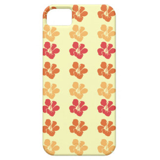 Hibiscus flowers: Warm Red Orange Gold iphone case Case For iPhone 5/5S