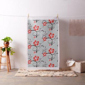 Hibiscus & Gecko Decor plain + your backgr. color Fabric