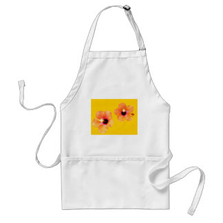 Hibiscus Orange Gold bg The MUSEUM Zazzle Gifts Aprons