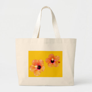 Hibiscus Orange Gold bg The MUSEUM Zazzle Gifts Tote Bags
