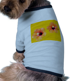 Hibiscus Orange Gold bg The MUSEUM Zazzle Gifts Doggie T Shirt