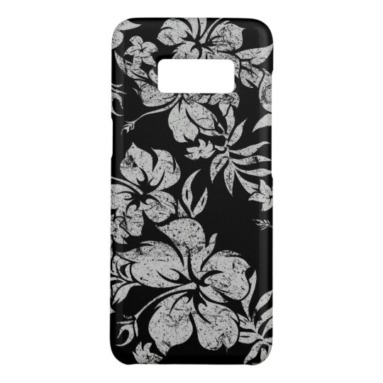 Hibiscus Pareau Hawaiian Floral Black Aloha Print Case-Mate Samsung Galaxy S8 Case