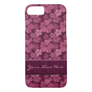 Hibiscus Pink Flowers Batik iPhone 8/7 Case