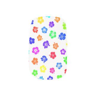 Hibiscus Print Minx Nail Art
