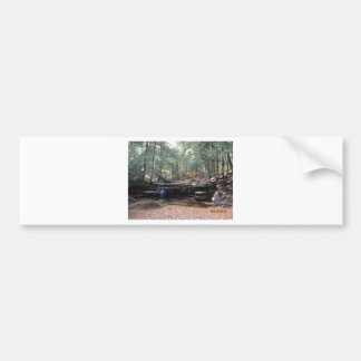 Hidden gem waterfall bumper sticker