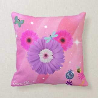 HIDDEN MICKEY whimsical spring flower pillow