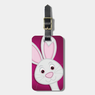 Hiding Easter Bunny Luggage Tag