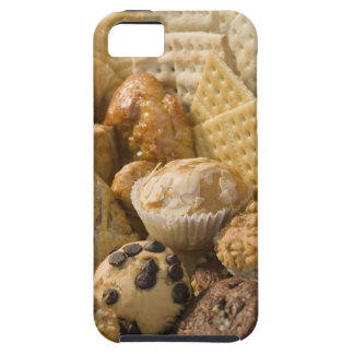 High angle view of muffins and crackers in a iPhone 5 cases