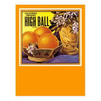 High Ball California Oranges Post Card