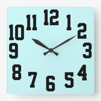 High Contrast Big Numbers Easy Read Wallclock