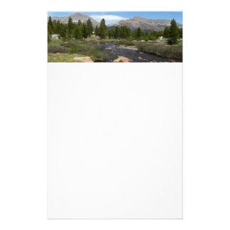 High Country Mountain Stream III Yosemite Park Stationery