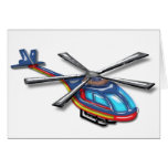 High Flying Helicopter Greeting Card
