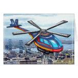 High Flying Helicopter Over Highways