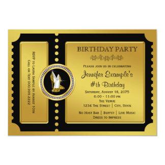 High Heel Shoe Golden Ticket Birthday Party Card