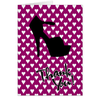 HIGH HEEL STAR - PUMP IT UP THANK YOU GREETING CARD