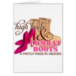 High Heels and Combat Boots (Desert) Card