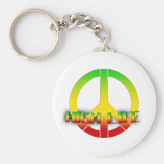 High Life Key-Chain (Rastafarian Love) Basic Round Button Key Ring